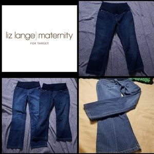 Bundle of 2 Liz Lange maternity jeans